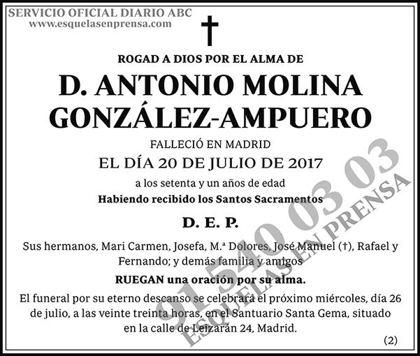 Antonio Molina González-Ampuero